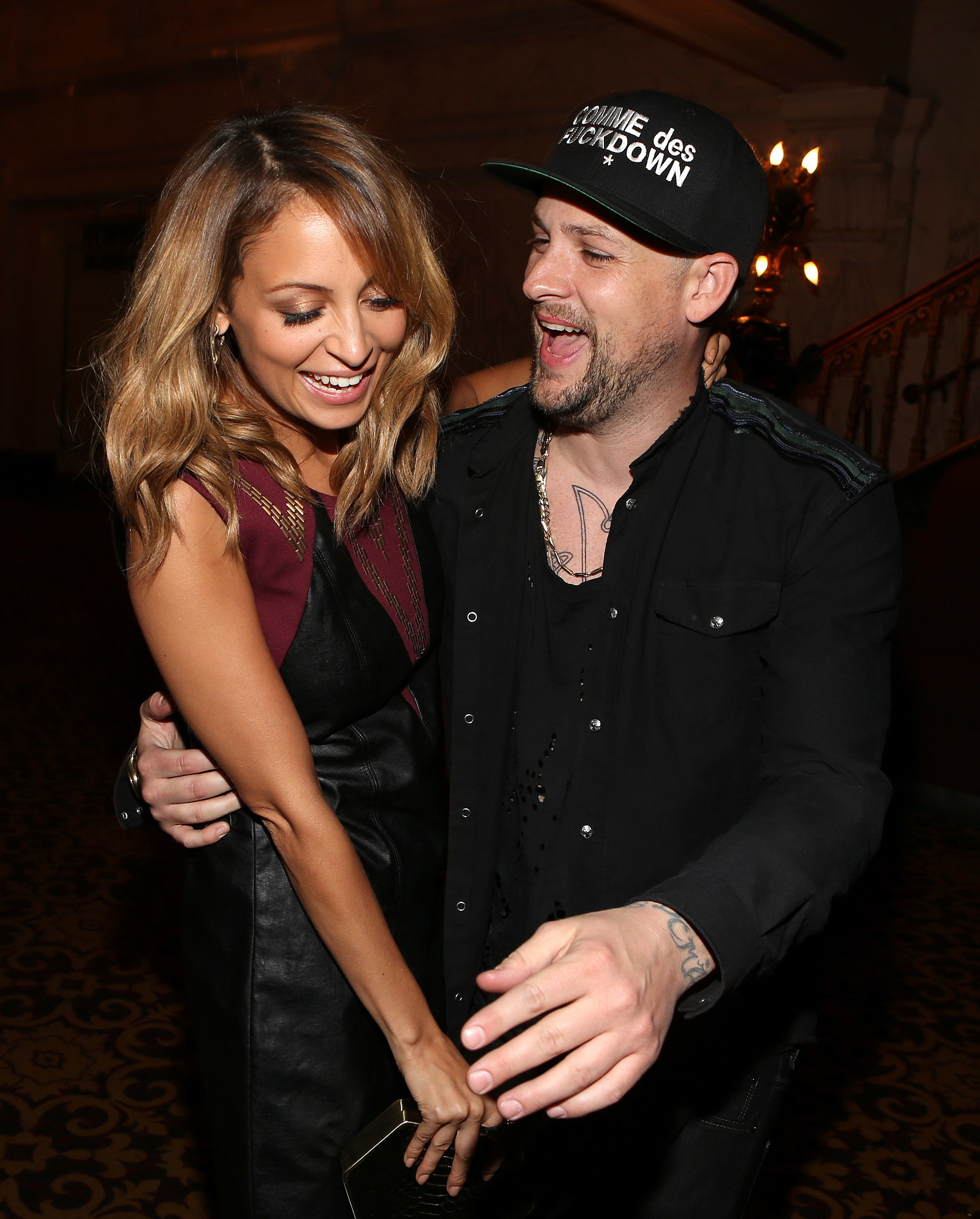 She and Joel made the most of their night out during an LA Macy's event in September 2012.