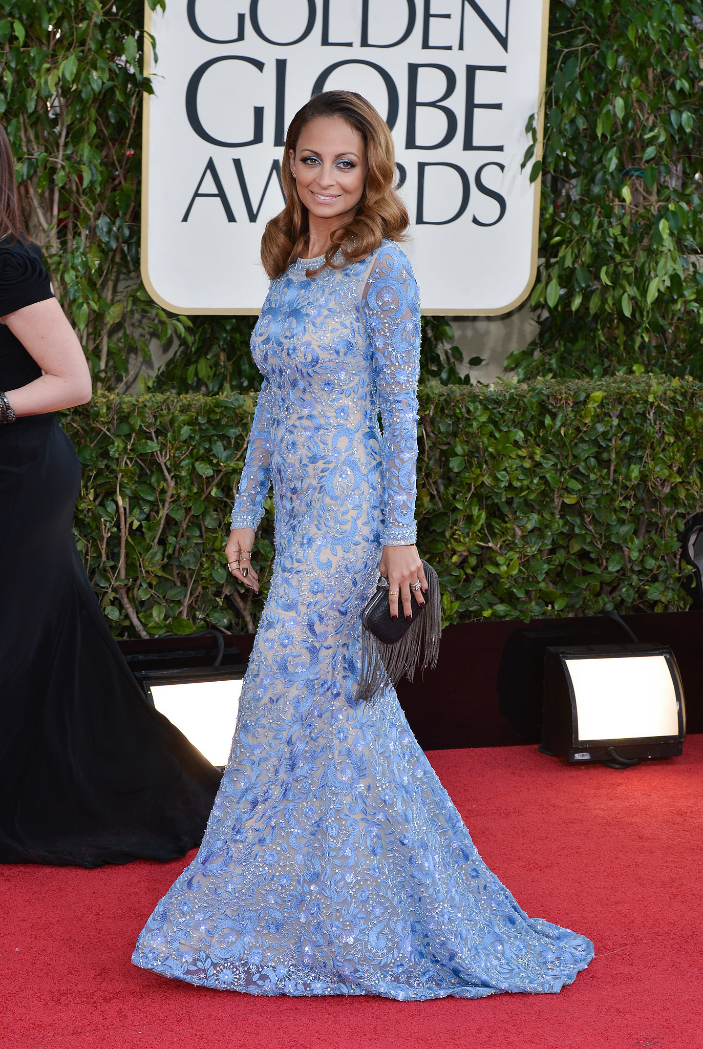 Nicole was a vision in blue when she walked the red carpet at the Golden Globes in LA