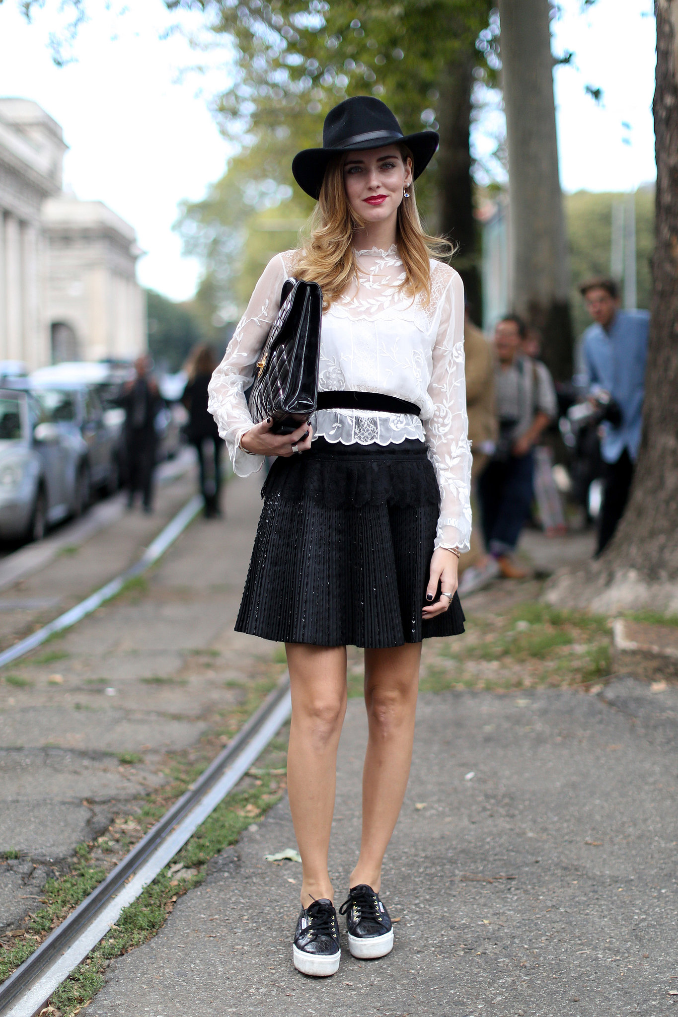 Chiara Ferragni Gave A High Fashion White And Black Look A All The Best Street Style Straight