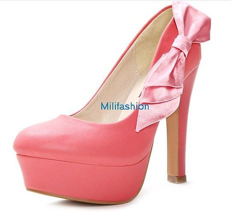 Fashion Pink high heel shoes OL style office style_High shoes_Fashion shoes_Mili fashion Trade Co.Ltd