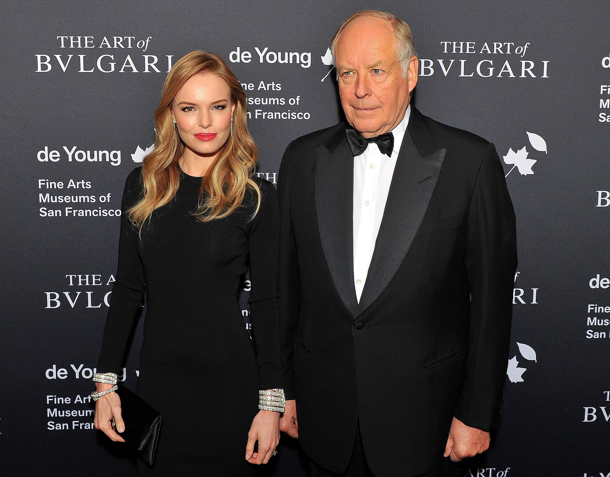 Kate Bosworth posed with Bulgari chairman Nicola Bulgari at the event.