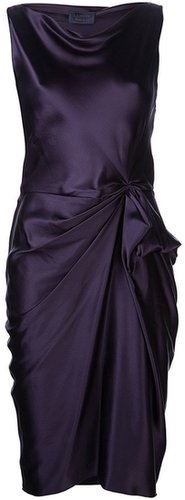 Lanvin sleeveless drape dress