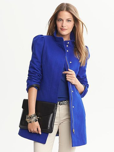 Cobalt Wool Coat
