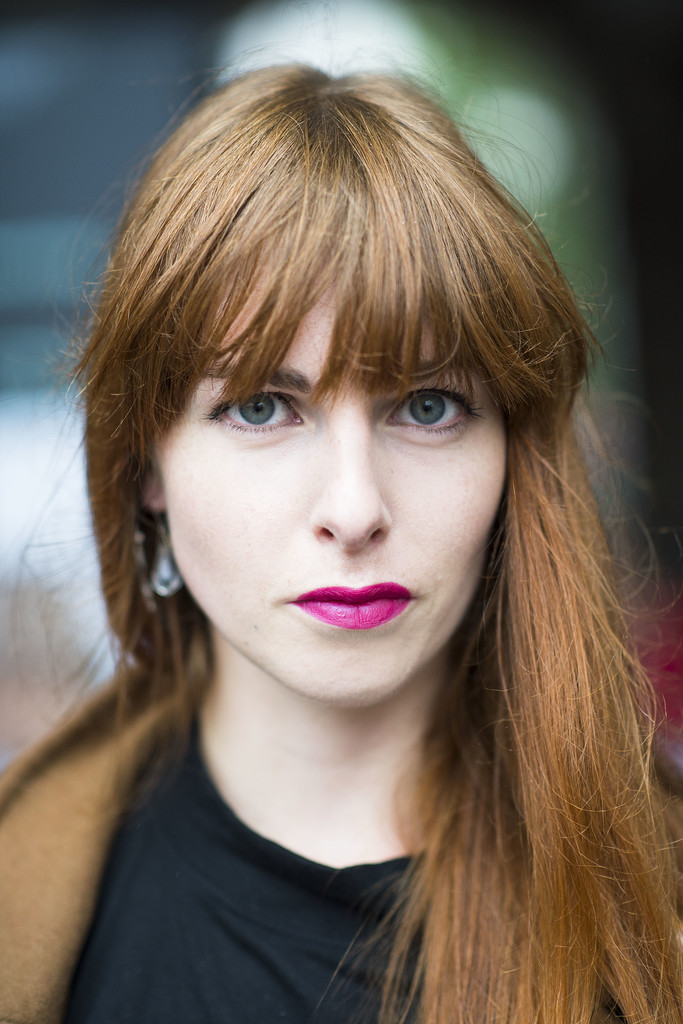There's nothing quite as fierce as a redhead in fuchsia lipstick.  Source: Le 21ème | Adam Katz Sinding