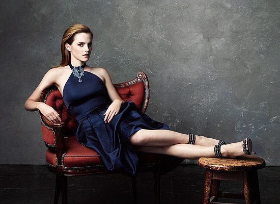 This is the most sophisticated we have ever seen Emma Watson.  Photo courtesy of Net-a-Porter