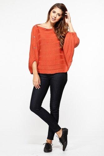 Orange Over Sized Knit Sweater