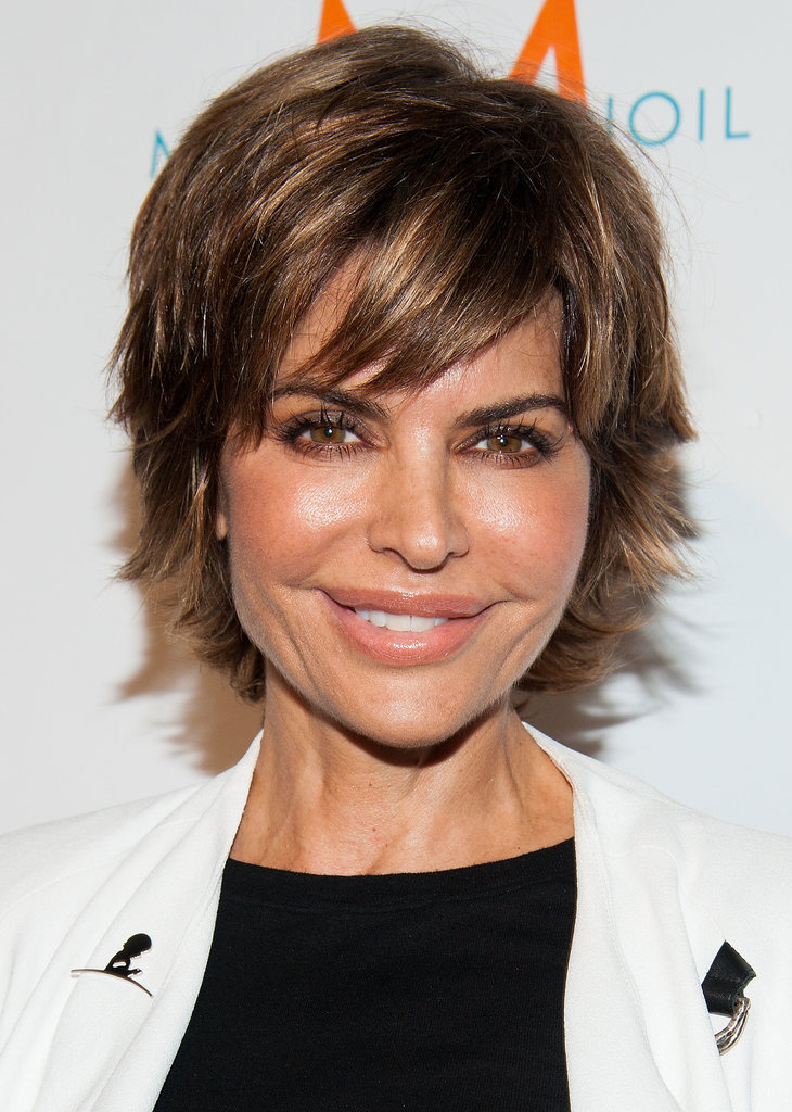 Lisa Rinna looked gorgeous with a piecey pixie at Los Angeles Confidential's pre-Emmys party.