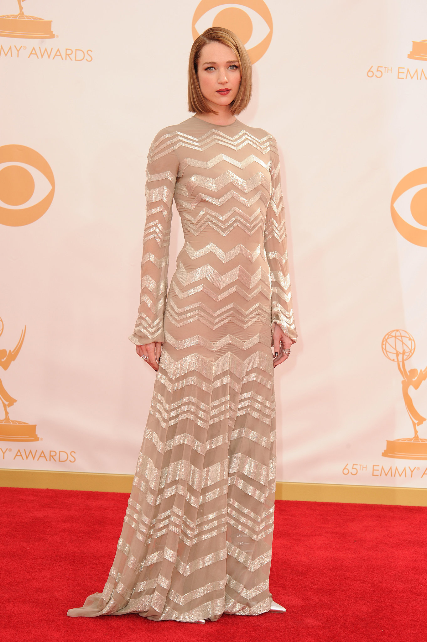 Actress Kristen Connolly donned a glamorous gown at the Emmys.