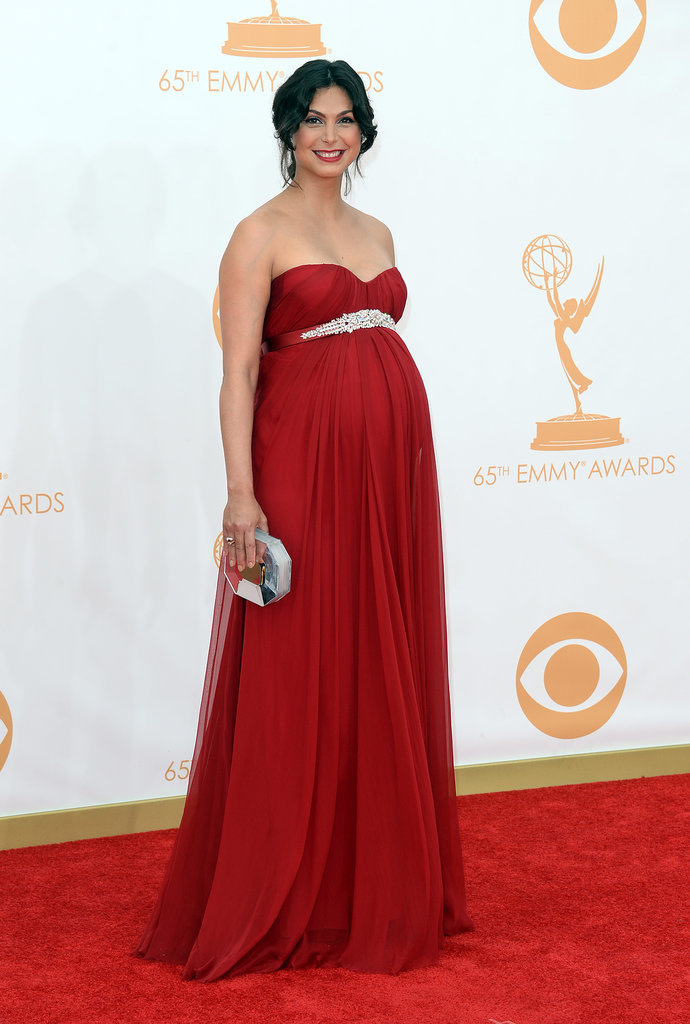 A Pregnant Morena Baccarin Accented Her Status With An Empire Waist Let 39 S Flash Back To Who