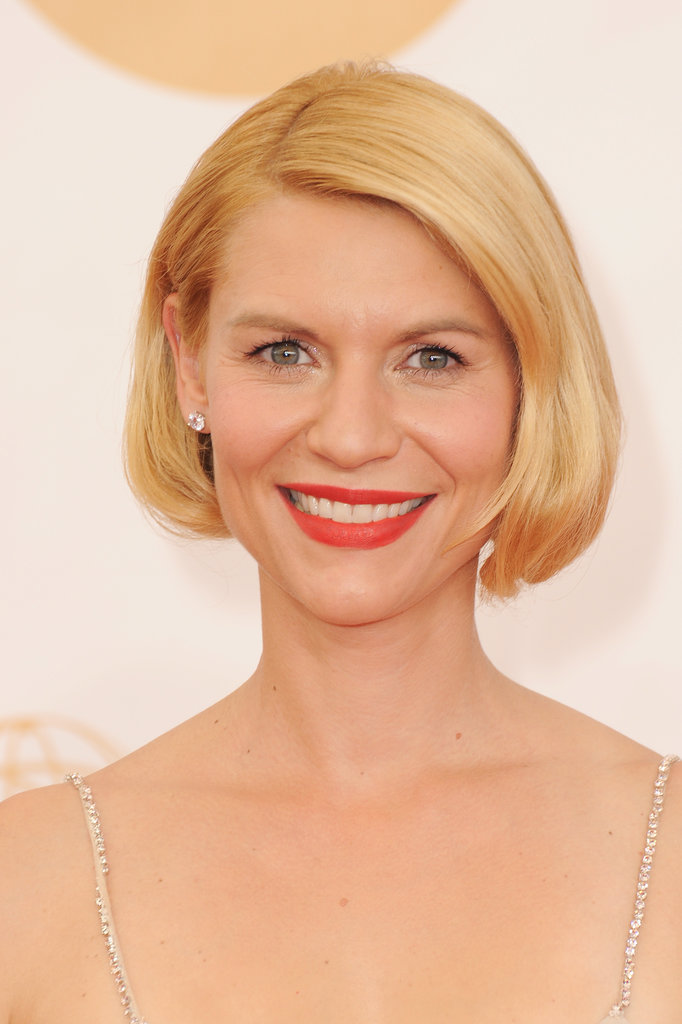 Claire Danes wore her hair in a faux bob at Sunday's Emmy Awards in LA.