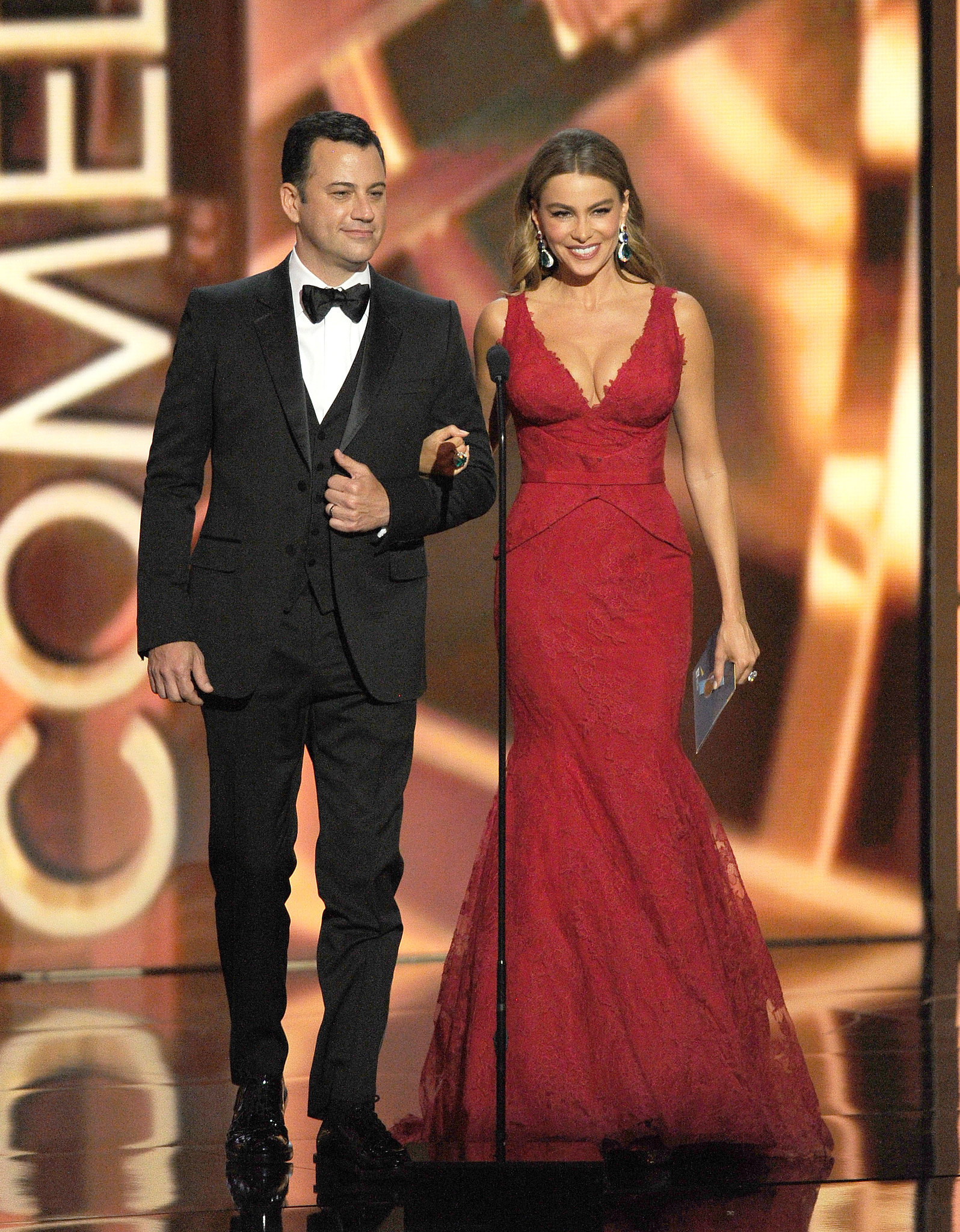 jimmy kimmel and sofia vergara presented together at the