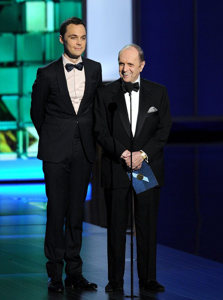 Jim Parsons took the stage with Bob Newhart at the Emmys.
