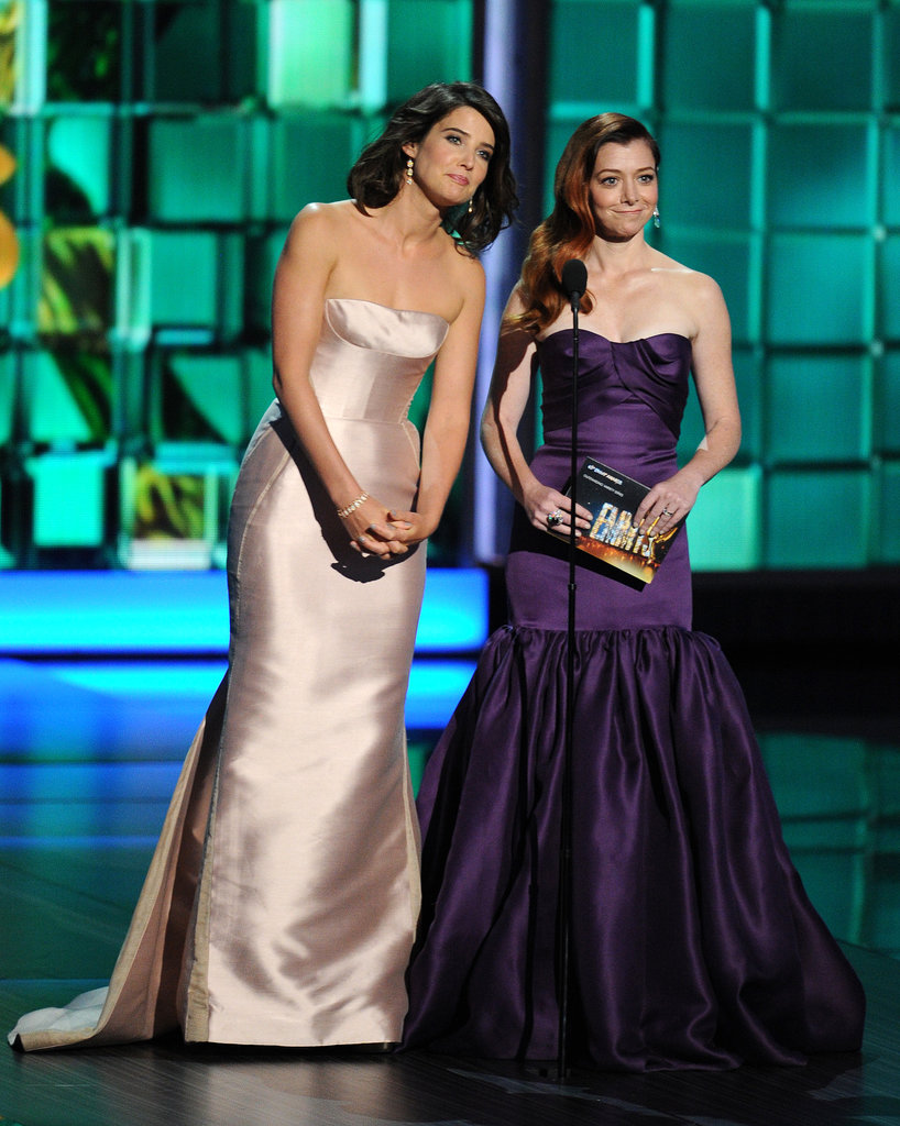 How I Met Your Mother co-stars Cobie Smulders and Alyson Hannigan presented together at the Emmys.