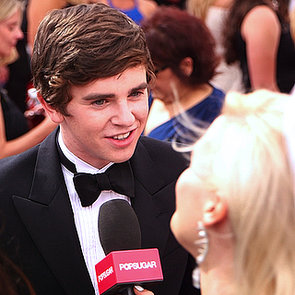 Freddie Highmore Interview at the Emmys 2013   Video