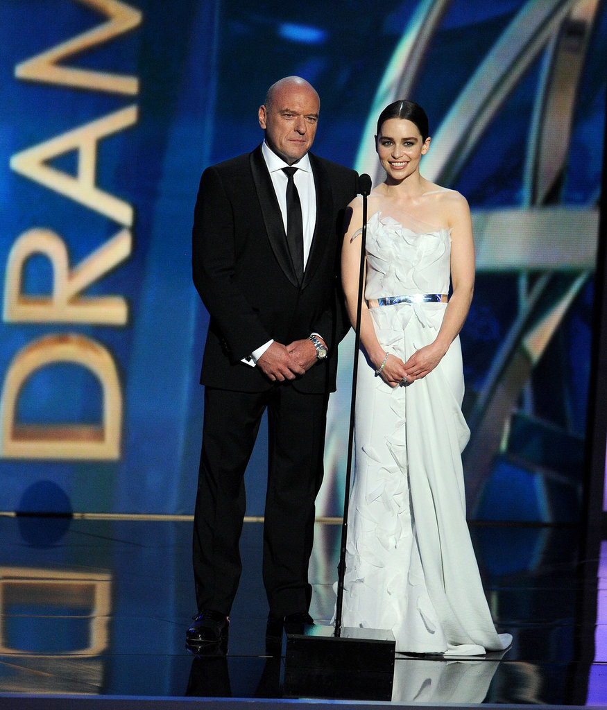 Dean Norris took the stage to present with Game of Thrones' Emilia Clarke.
