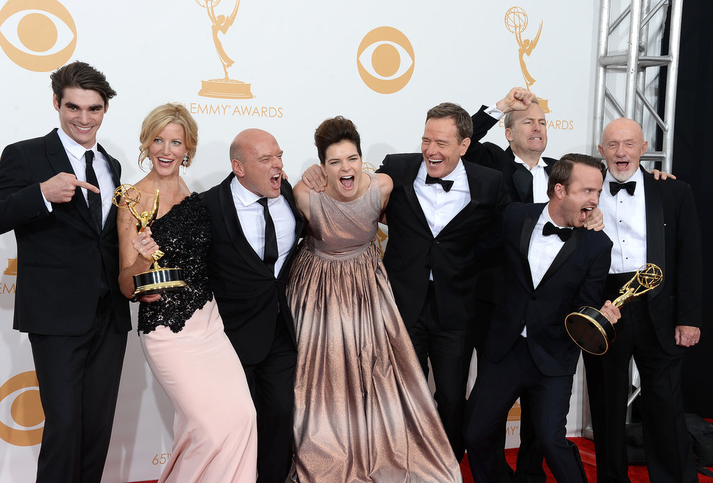 The cast hammed it up in the press room.