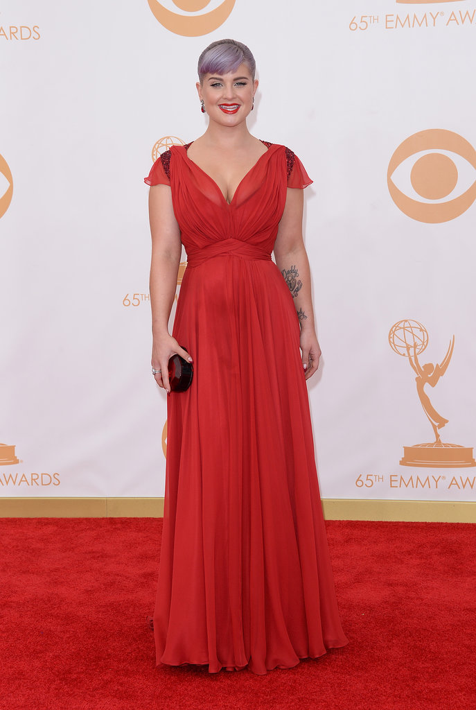Kelly Osbourne rocked a red gown for the Emmys.