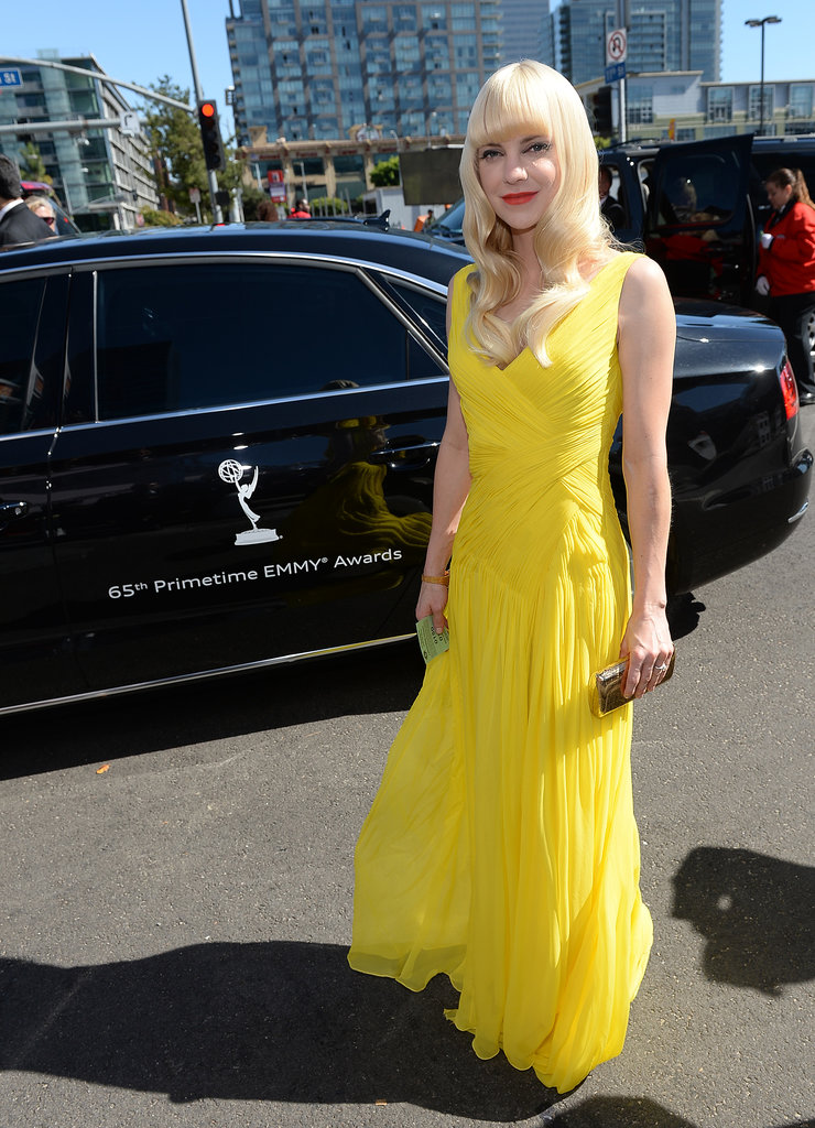 Anna Faris on the red carpet at the 2013 Emmy Awards.