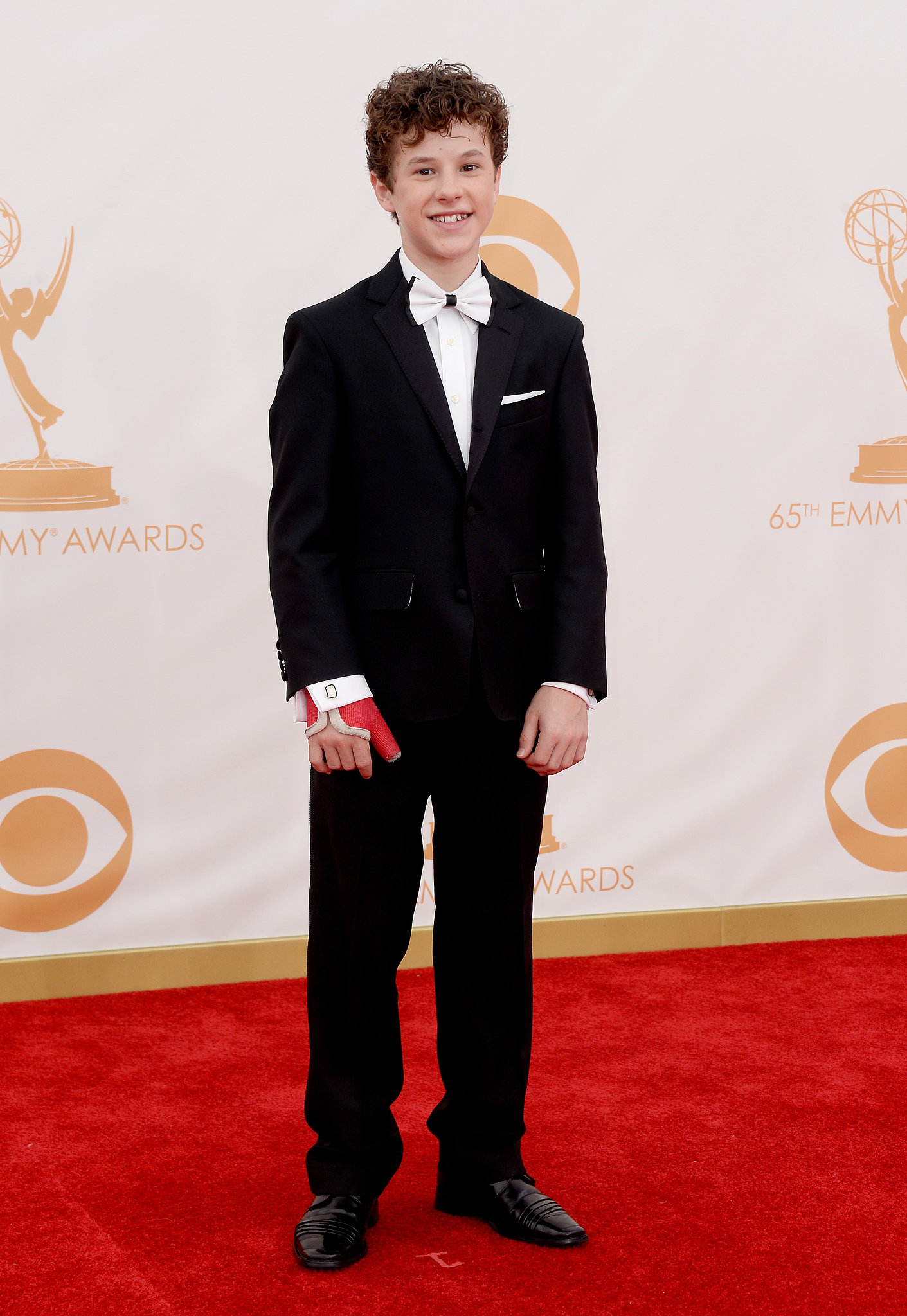 Modern Family actor Nolan Gould walked the red carpet.