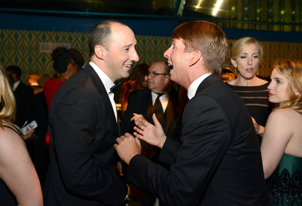 Tony Hale chatted with Jack McBrayer at the 2013 HBO Emmys afterparty.