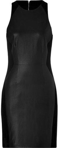 Rag & Bone Leather Clemence Dress in Black