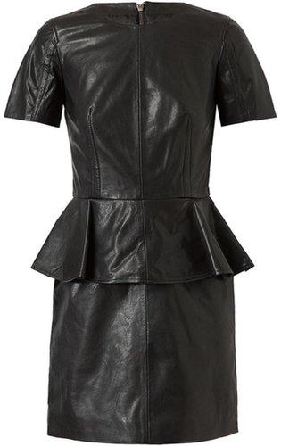 Mcq By Alexander Mcqueen Leather Peplum Dress