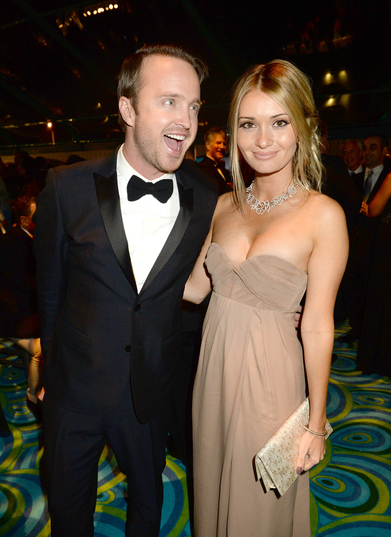 Aaron Paul had his wif...