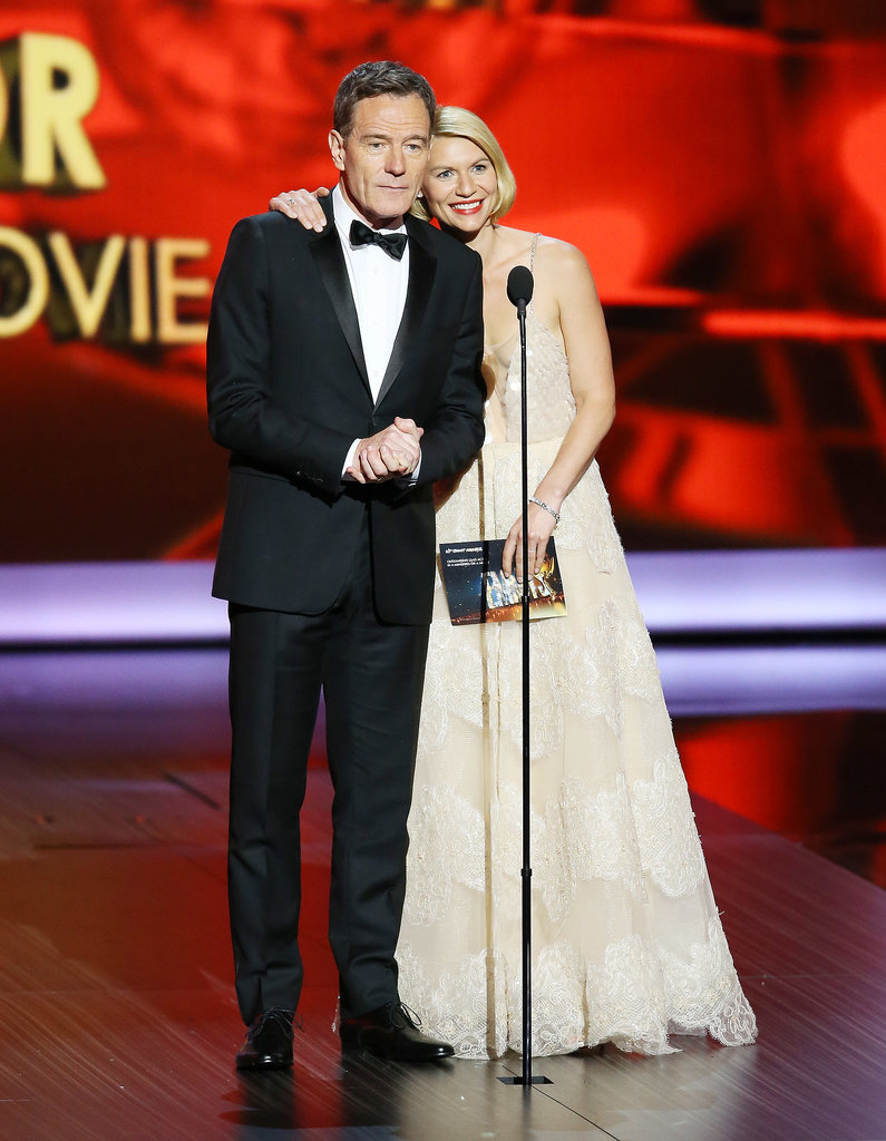 Bryan Cranston took the stage to present with Claire Danes.
