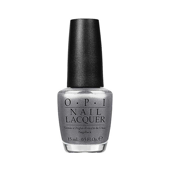 For a chrome-like effect, swipe on OPI Nail Lacquer in Haven't the Foggiest ($9). This metallic silver is sure to become a new classic shade in your collection.