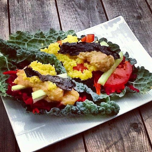 Veggie-Millet Kale Tacos (vegan)