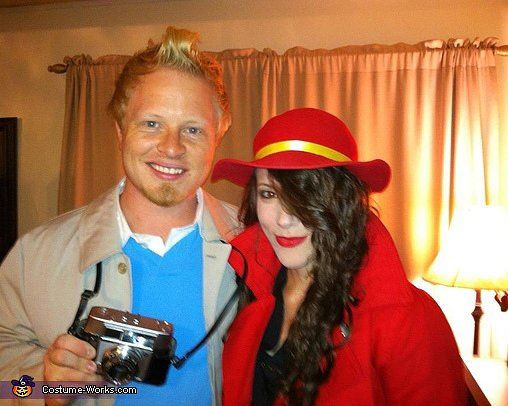 Tintin and Carmen Sandiego