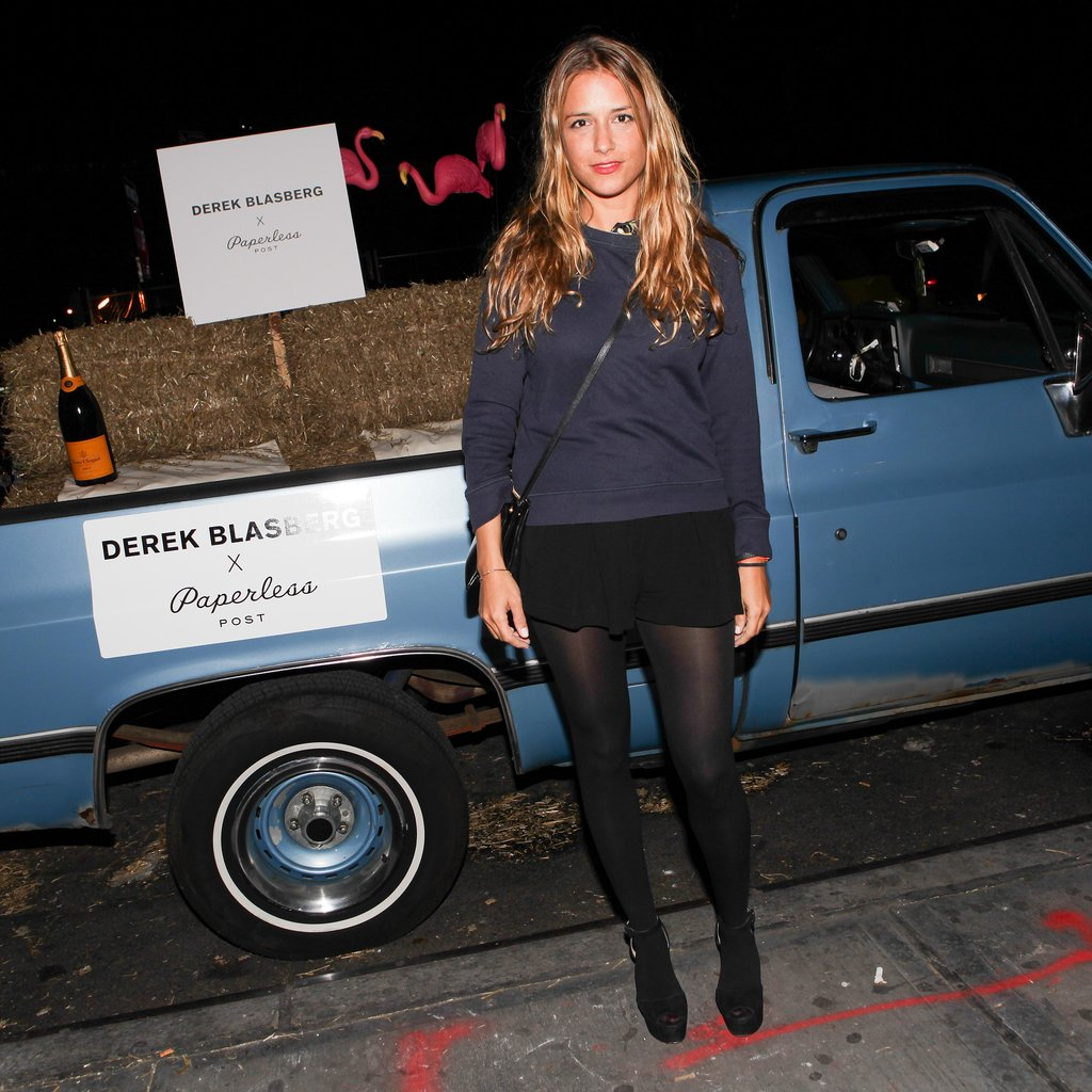 Charlotte Ronson looked ready for Fall with Derek Blasberg and Paperless Post.