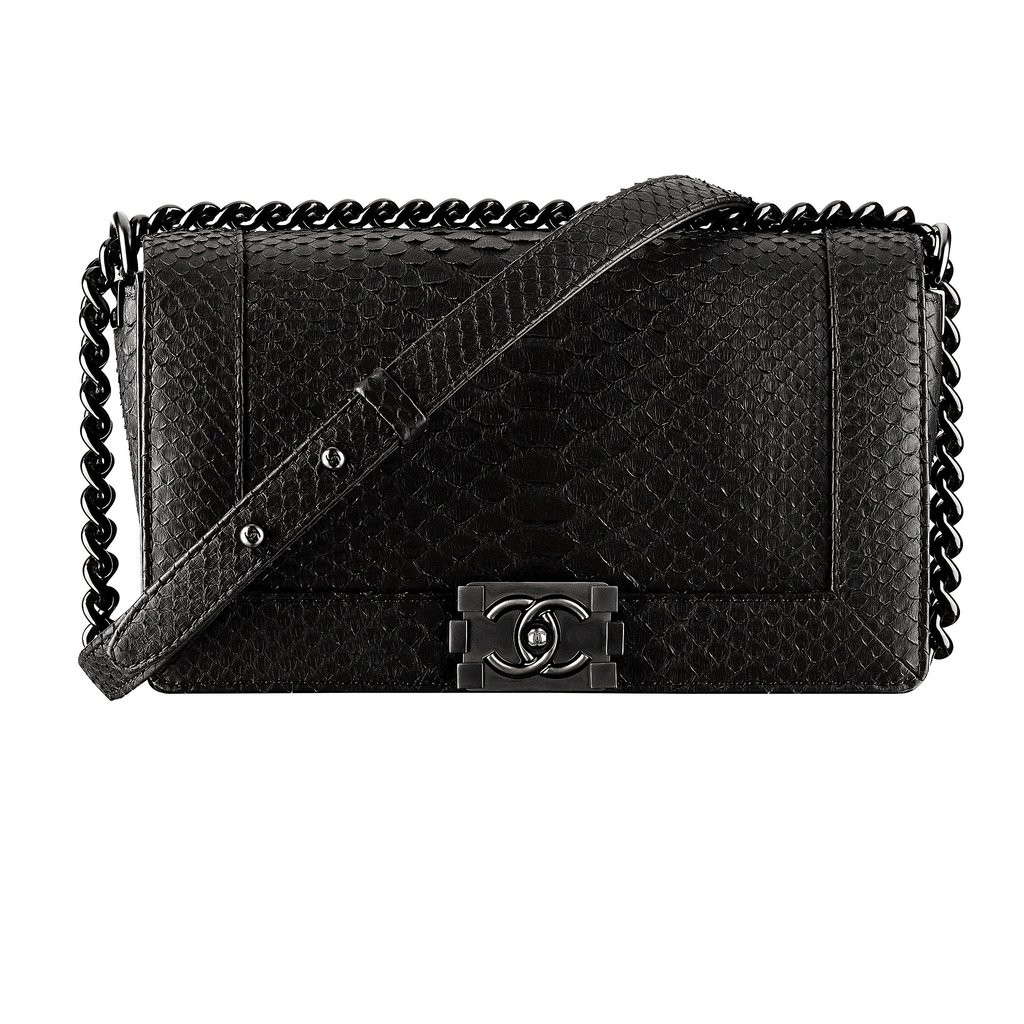 Chanel Black Exotic Leather Boy Chanel Bag Photo courtesy of Chanel