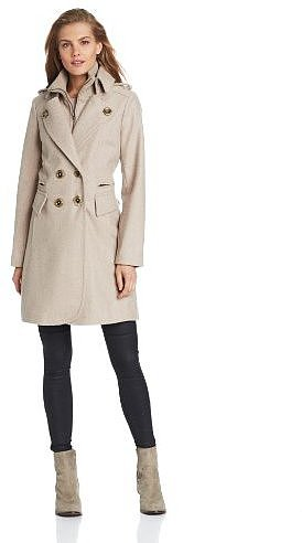 Miss Sixty Women's DB Knit Military Coat
