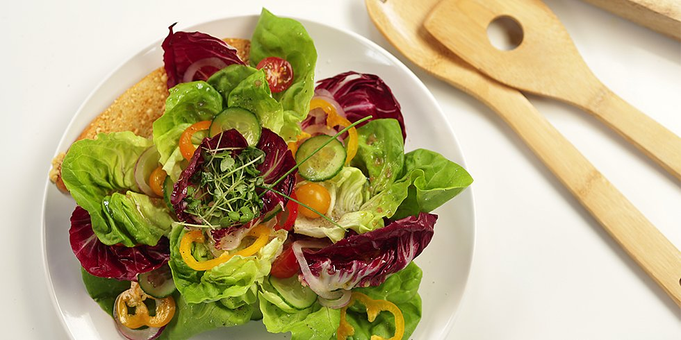 The Art of Plating a Garden Salad