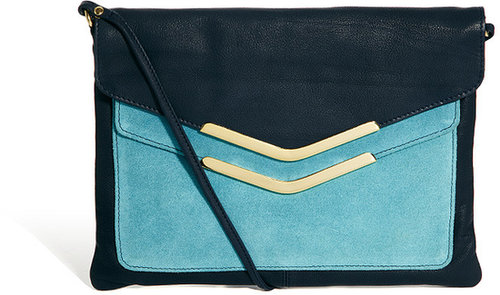 ASOS Leather Clutch Bag With Double Flap