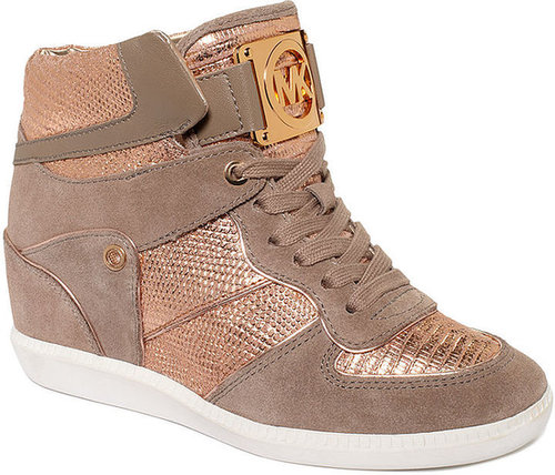 MICHAEL Michael Kors Shoes, Nikko High Top Wedge Sneakers