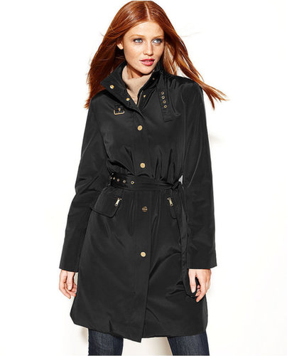 MICHAEL Michael Kors Coat, Buckle-Collar Belted Trench Coat