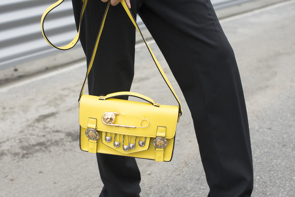 A sunny bag with a tough-girl finish.
