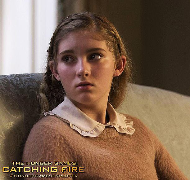 Willow Shields comes back as Katniss's little sister, Prim.