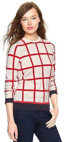 Windowpane pullover