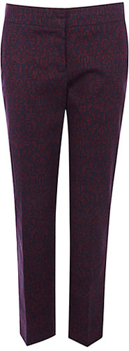 Warehouse Baroque Trousers, Dark Red