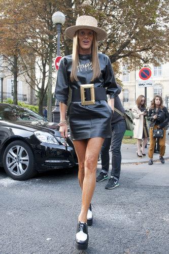 Anna Dello Russo's look just makes us happy.