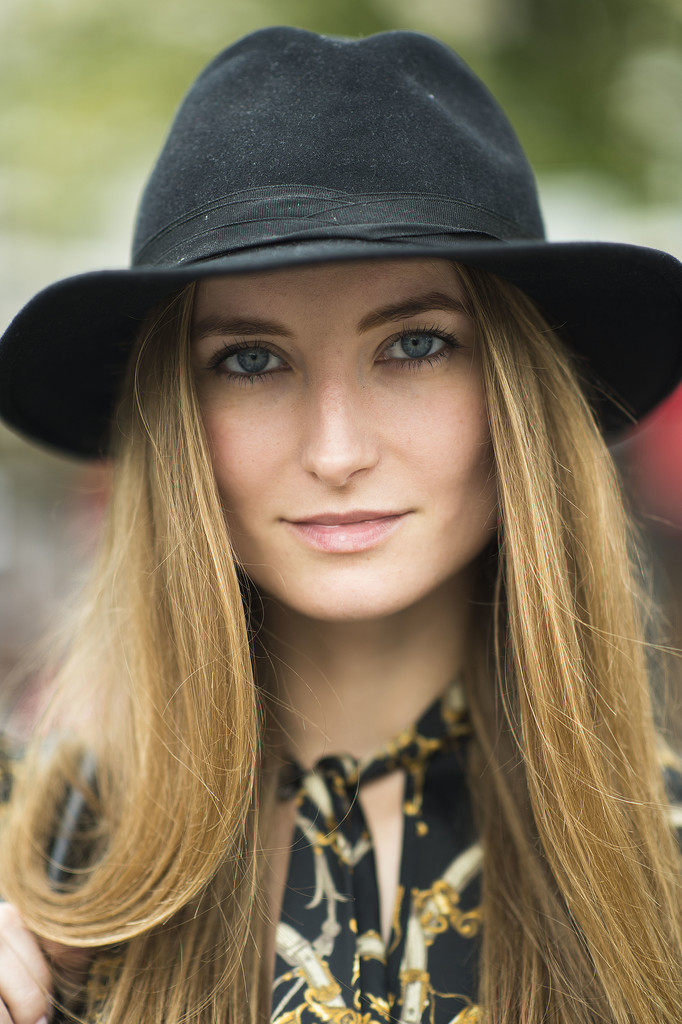 Toss a cap onto your silky blowout for a sexy, chic look. Source: Le 21ème   Adam Katz Sinding