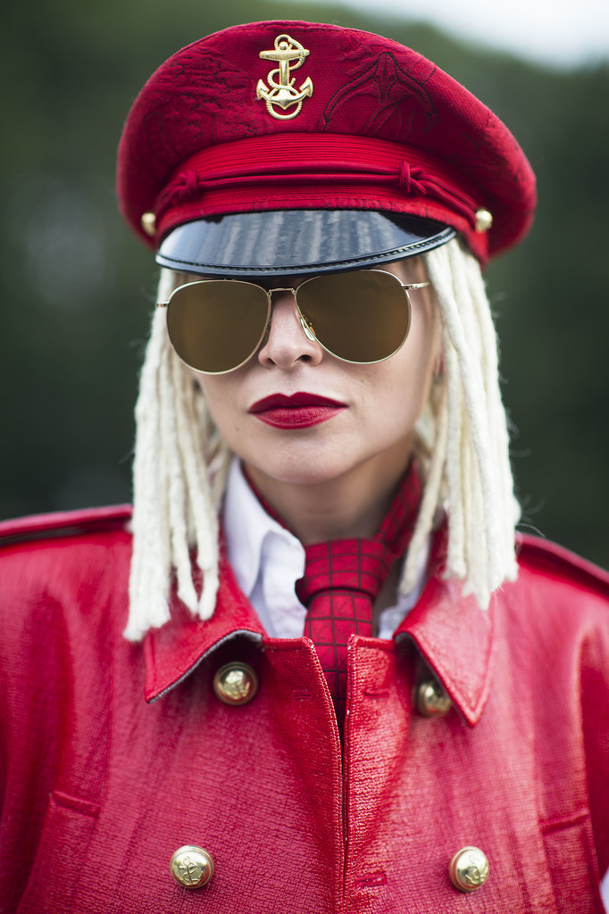 Blond dreadlocks and red lipstick. Need we say more? Source: Le 21ème   Adam Katz Sinding