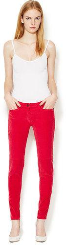 Pile Zipper Ankle Corduroy Pant