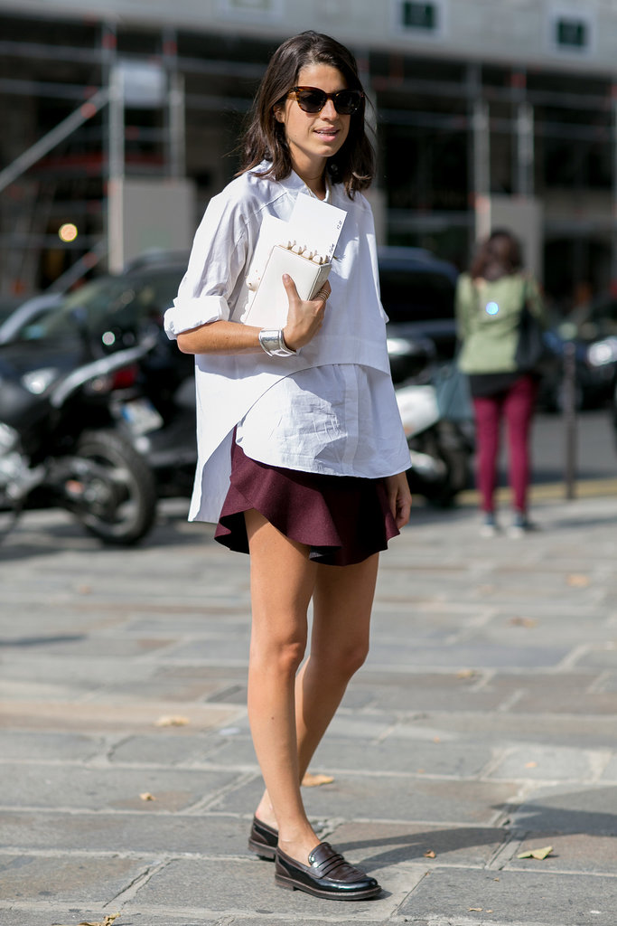 Leandra Medine did preppy like a fashion pro.
