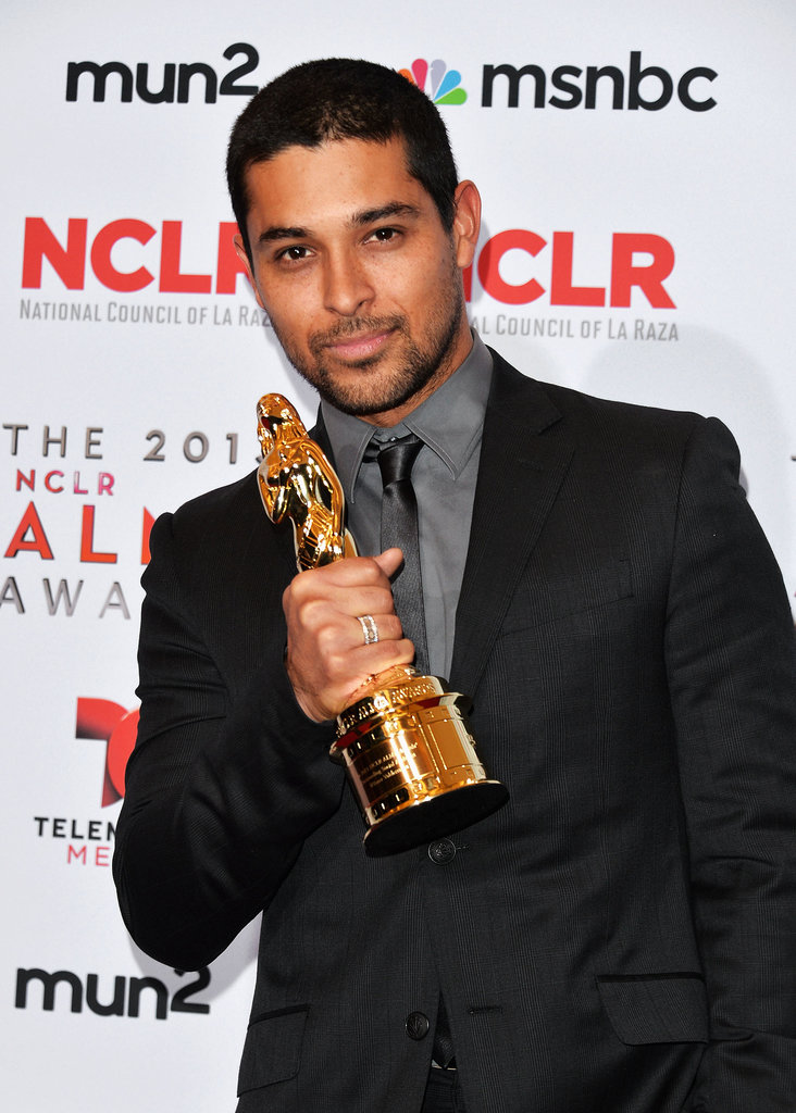 Wilmer Valderrama showed off his award during the show.