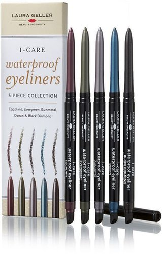 Laura Geller Beauty I-Care Waterproof Eyeliners 5 Pc Collection