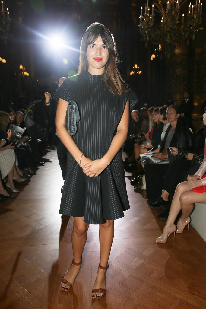 Jeanne Damas was Parisian chic in Stella McCartney's front row.